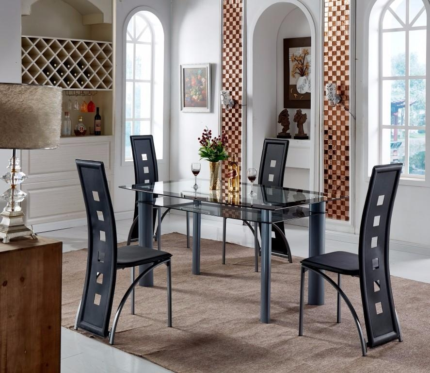 Glass Dining Table 6 Chairs Set, Glass Dining Table 6 Chairs Set Intended For Dining Tables And Six Chairs (Image 11 of 20)