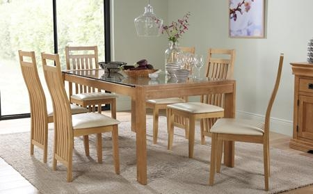 Glass Dining Table & Chairs – Glass Dining Sets | Furniture Choice In Wood Glass Dining Tables (Image 11 of 20)