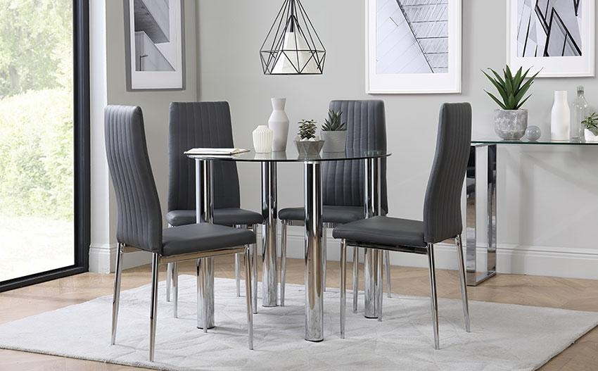 Glass Dining Table & Chairs – Glass Dining Sets | Furniture Choice With Regard To Glass Dining Tables And Chairs (View 11 of 20)