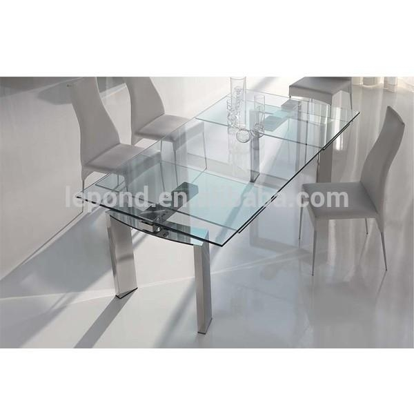 Glass Dining Table, Glass Dining Table Suppliers And Manufacturers Pertaining To Glass Folding Dining Tables (Image 12 of 20)