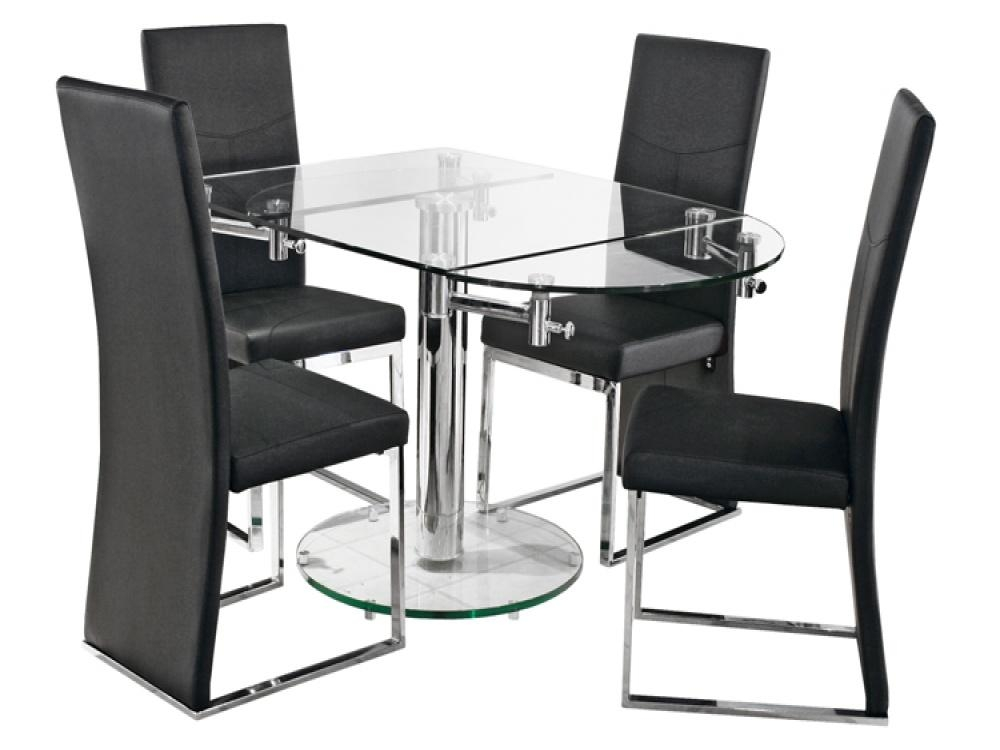 Glass Extendable Dining Table Toronto | Dining Tables With Glass Round Extending Dining Tables (Image 8 of 20)