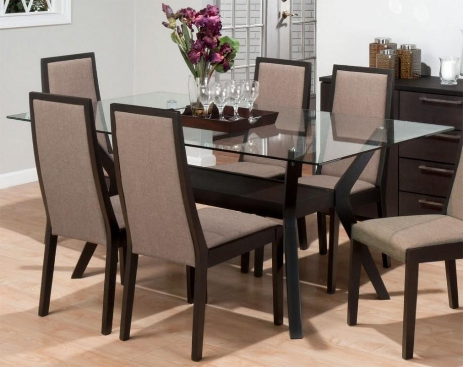 Glass Kitchen Table Sets Rectangular | Roselawnlutheran Within Rectangular Dining Tables Sets (View 6 of 20)