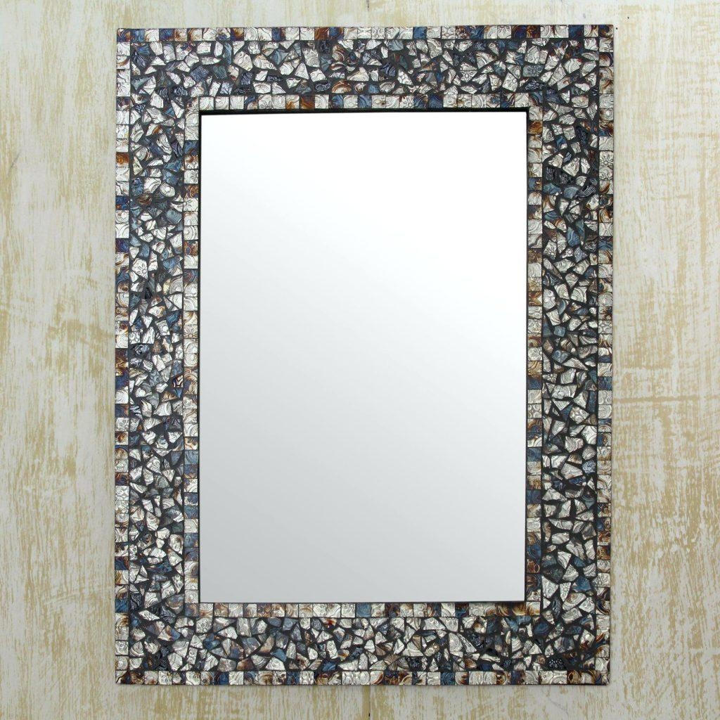 Glass Mosaic Wall Mirrormosaic Mirror Tiles Bathroom – Shopwiz Throughout Large Mosaic Mirror (Image 4 of 20)
