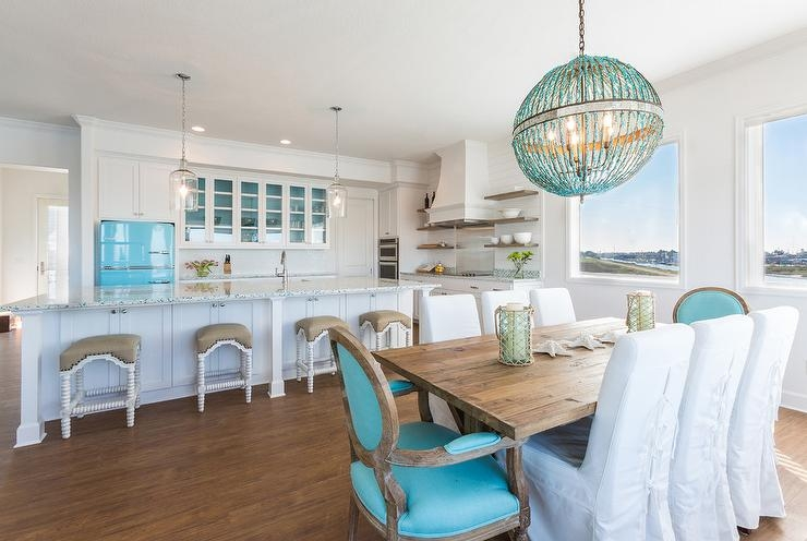 Glass Orb Chandelier Contemporary Dining Room Mark English For Turquoise Orb Chandeliers (Image 11 of 25)