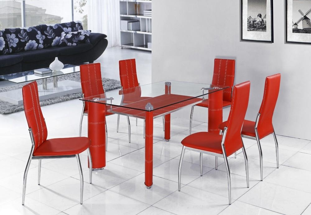 Glass Red Dining Table – Dining Table Design Ideas : Electoral7 Throughout Red Dining Table Sets (View 9 of 20)