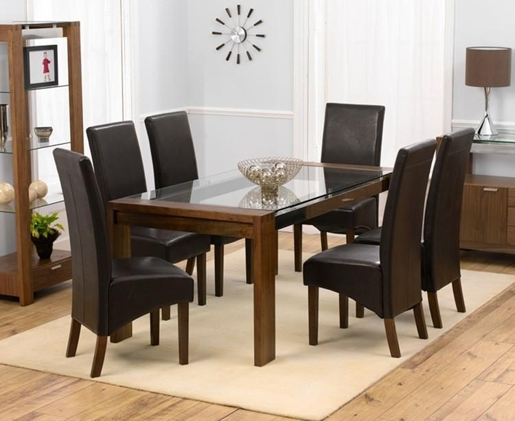 Glass Table Dining Set – Destroybmx Pertaining To Walnut Dining Table And 6 Chairs (Image 13 of 20)