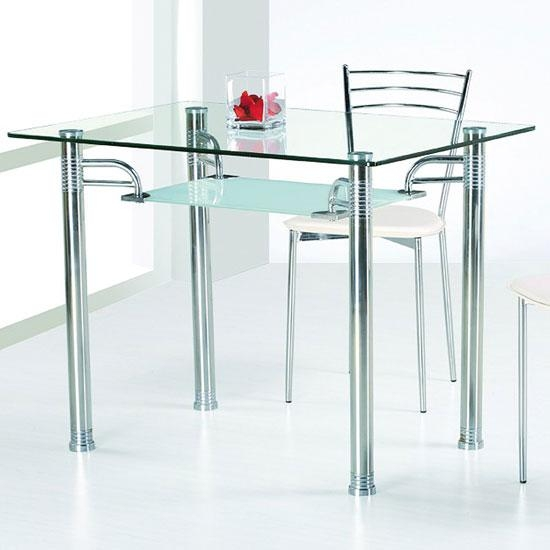 Glass Top Dining Tables | Homesfeed In Glass And Stainless Steel Dining Tables (Image 10 of 20)