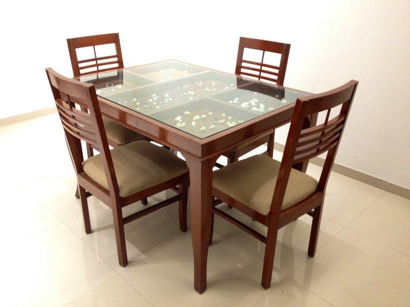 Glass Top Dining Tables | Homesfeed Throughout Glass Dining Tables With Wooden Legs (Image 11 of 20)
