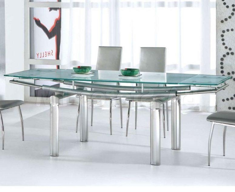 Glass Top Dining Tables With Wood Base Beige Hardwood Laminate Inside Mirror Glass Dining Tables (View 10 of 20)