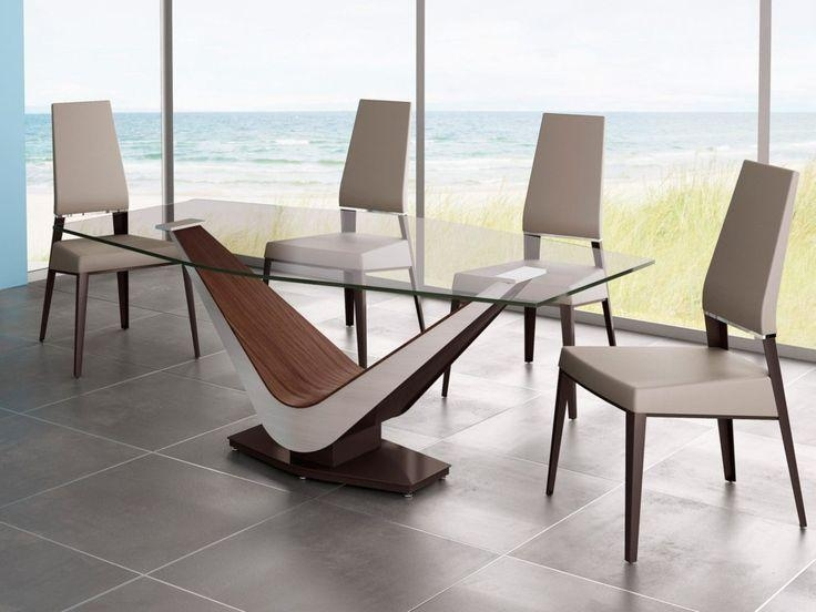 Glass Wood Dining Room Table Regarding Wood Glass Dining Tables (Image 15 of 20)