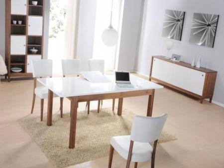 Gloss Dining Table And 6 Chairs Intended For Walnut Dining Table And 6 Chairs (Image 14 of 20)