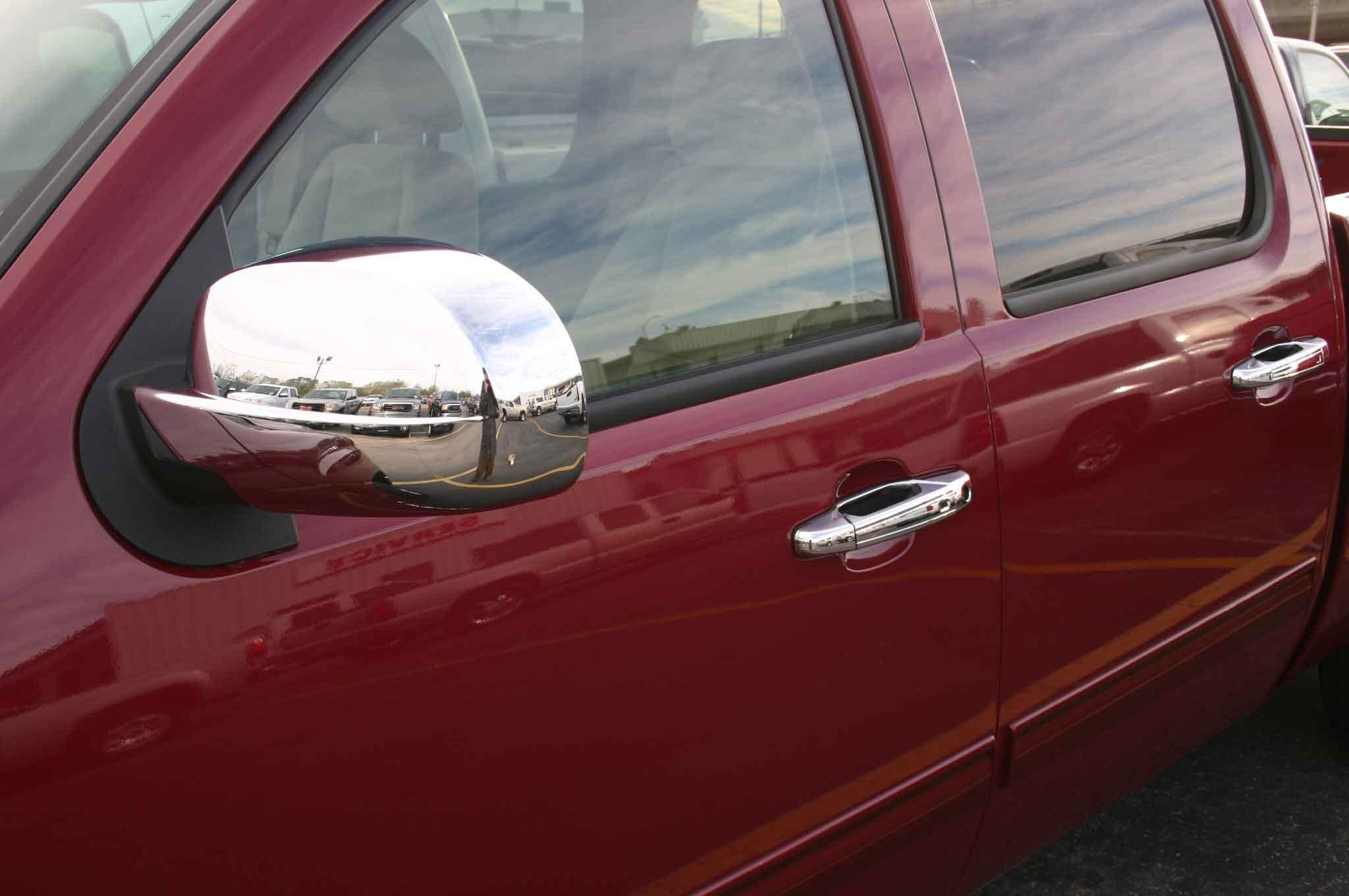 Gmc Sierra Chrome Door Handle / Mirror Cover Trim Package With Chrome Mirrors (Image 14 of 20)