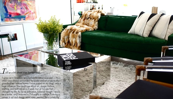 Go For The Green Sofa. – Coco Kelley Coco Kelley Inside Emerald Green Sofas (Photo 16 of 20)