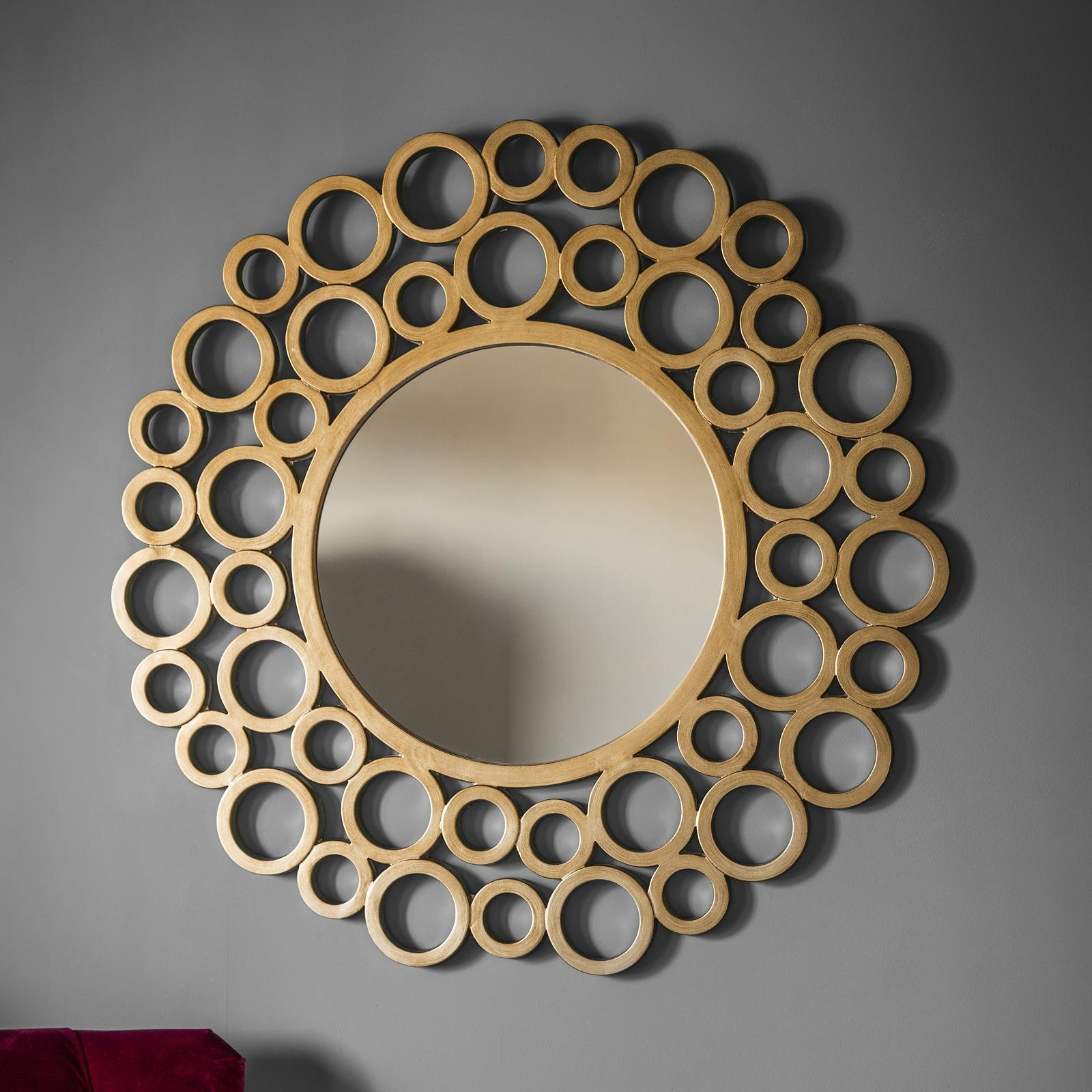 Gold Bubble Wall Mirror – Primrose & Plum Inside Round Bubble Mirror (View 13 of 20)