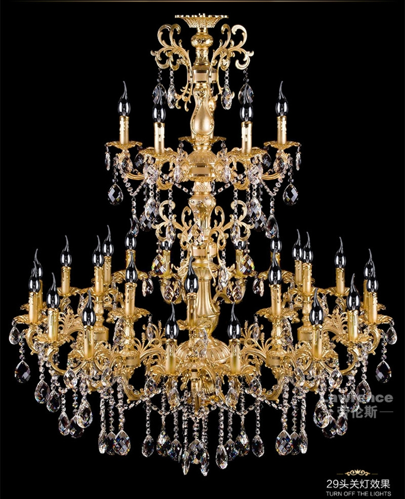 Gold Candle Chandeliers Promotion Shop For Promotional Gold Candle Within Led Candle Chandeliers (Image 8 of 25)