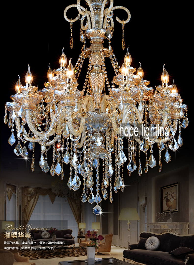 Gold Crystal Chandelier Modern Gold Chandelier Lights Indoor For Crystal Gold Chandeliers (Image 14 of 25)