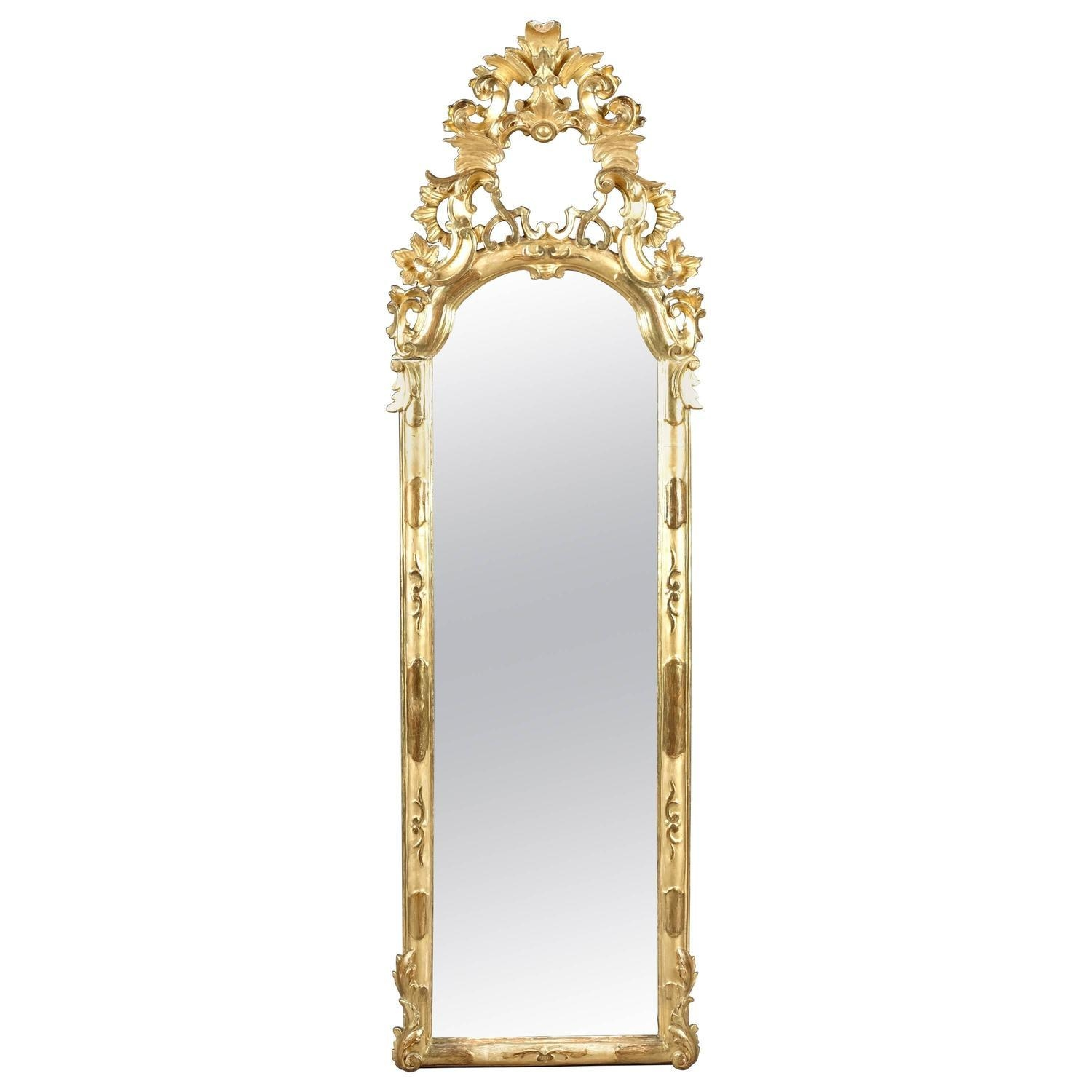 Gold Floor Mirrors And Full Length Mirrors – 14 For Sale At 1Stdibs In Gold Full Length Mirror (Image 13 of 20)