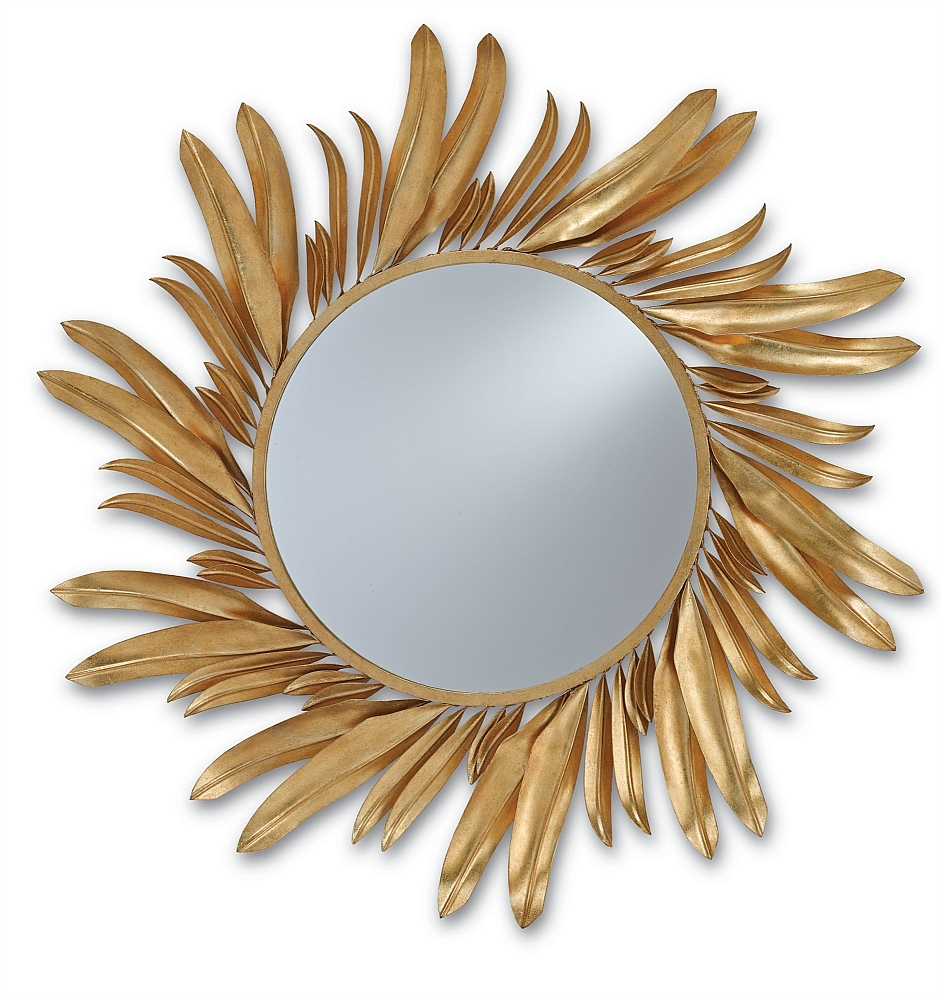 Gold Iron Petals Round Mirror – The Designer Insider Within Designer Round Mirrors (Image 13 of 20)