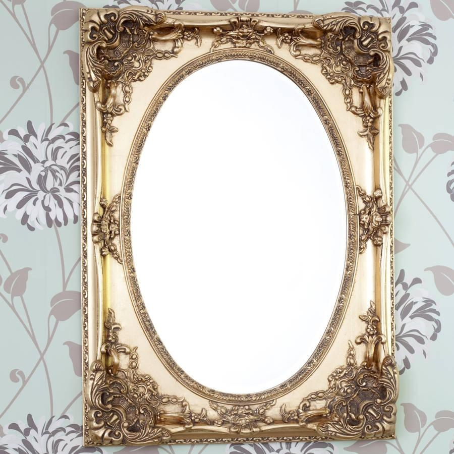 Gold Ornate Oval Mirrordecorative Mirrors Online Pertaining To Ornate Oval Mirrors (Image 5 of 20)