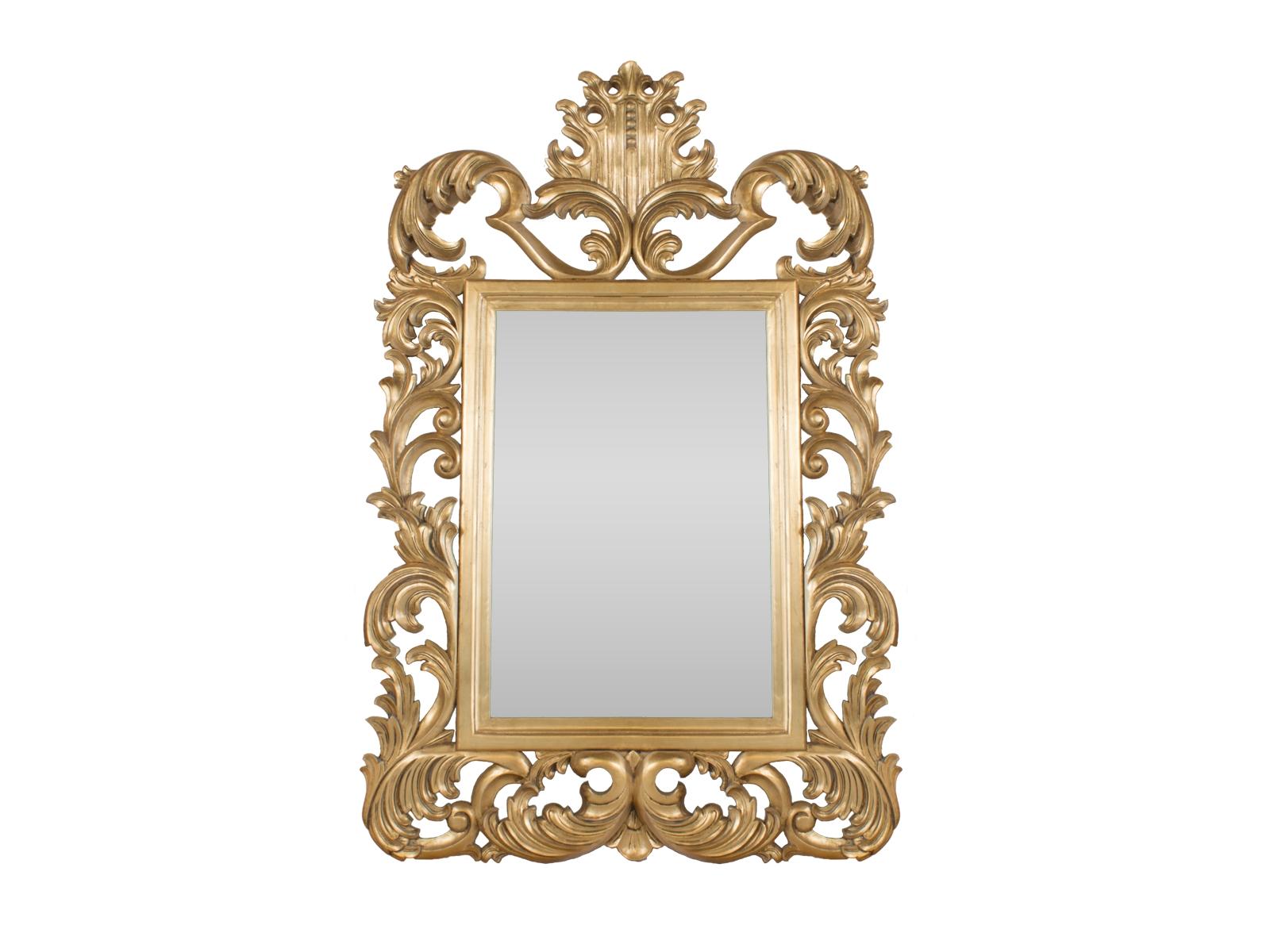 Gold Rococo Mirror – Hidden Mill Regarding Gold Rococo Mirror (Image 11 of 20)