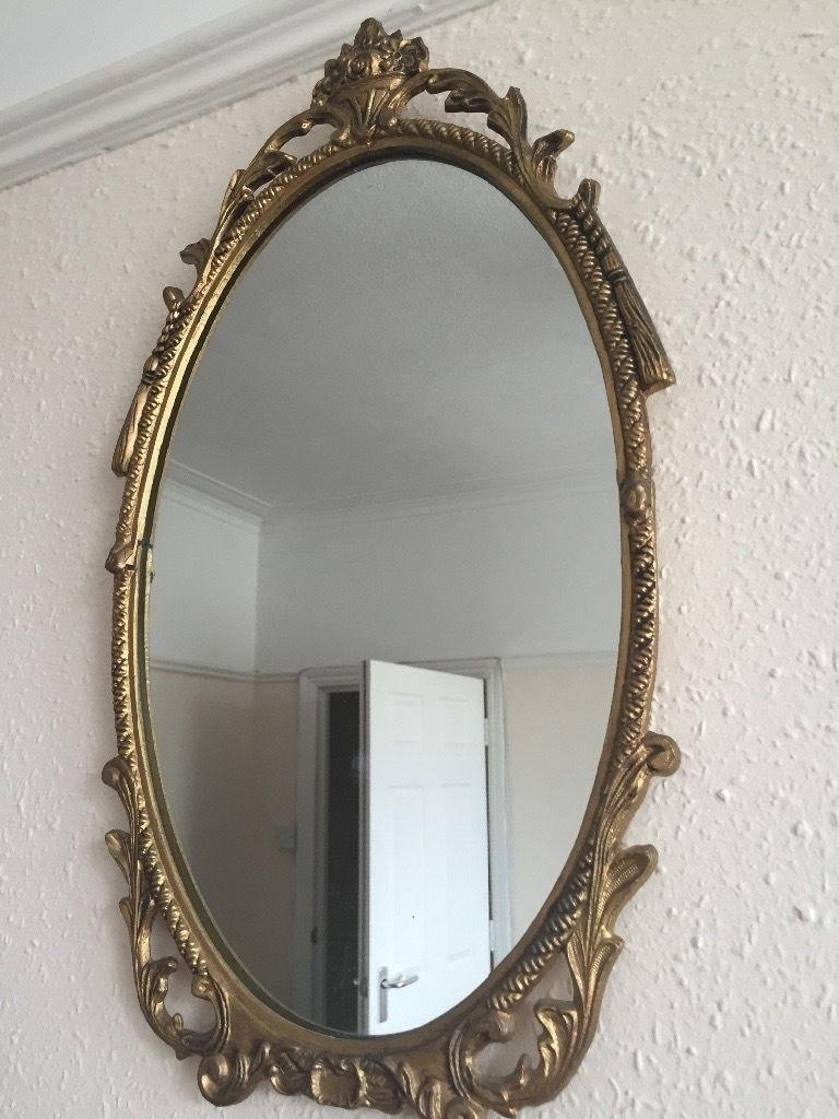 Gold Vintage Style/ Shabby Chic/ Rococo Mirror | In St Pauls Throughout Gold Rococo Mirror (Image 12 of 20)