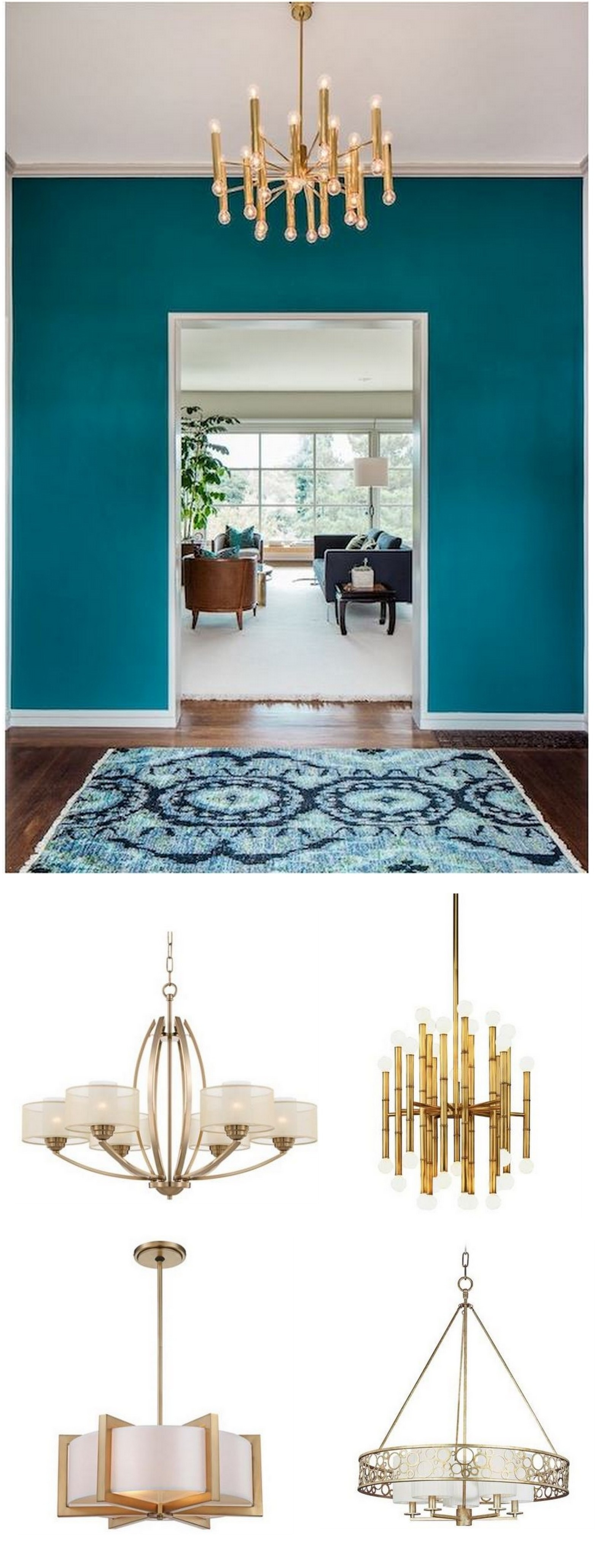 Golden And Glamorous Lighting Home Decorating Blog Community Throughout Turquoise And Gold Chandeliers (View 11 of 13)