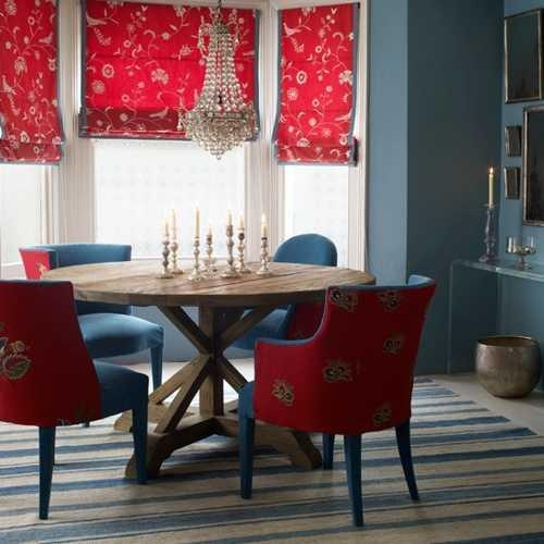 Good Feng Shui Tips For Your Dining Room Decorating, Red Color Accents Within Red Dining Tables And Chairs (Image 13 of 20)