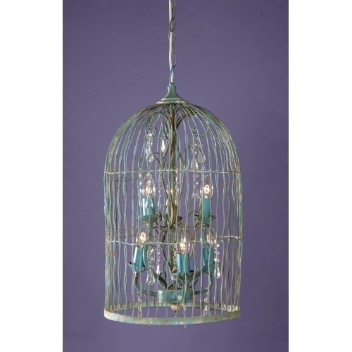Gorgeous Birdcage Chandelier Light Within Turquoise Birdcage Chandeliers (View 11 of 25)