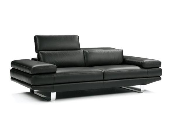 Gorgeous Contemporary Black Leather Sofa With Fabulous Regarding Contemporary Black Leather Sofas (View 12 of 20)