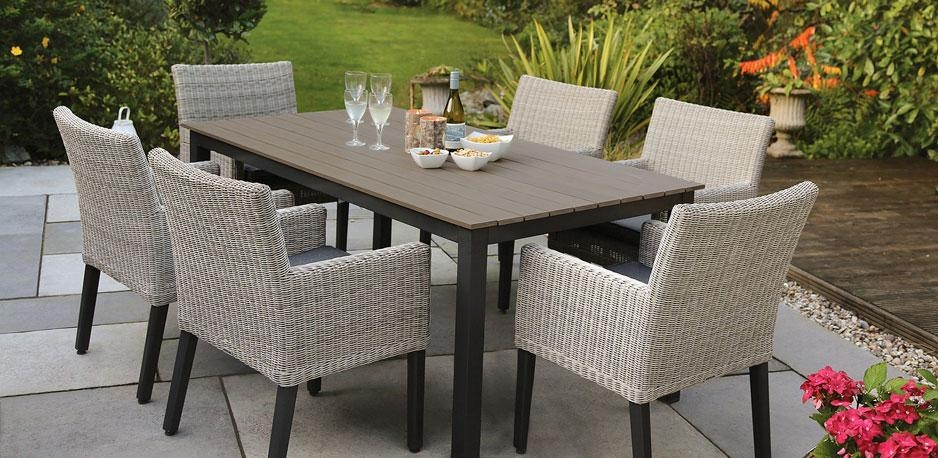 Gorgeous Garden Furniture Table Extending Teak Patio Table Vs With Garden Dining Tables (Image 15 of 20)