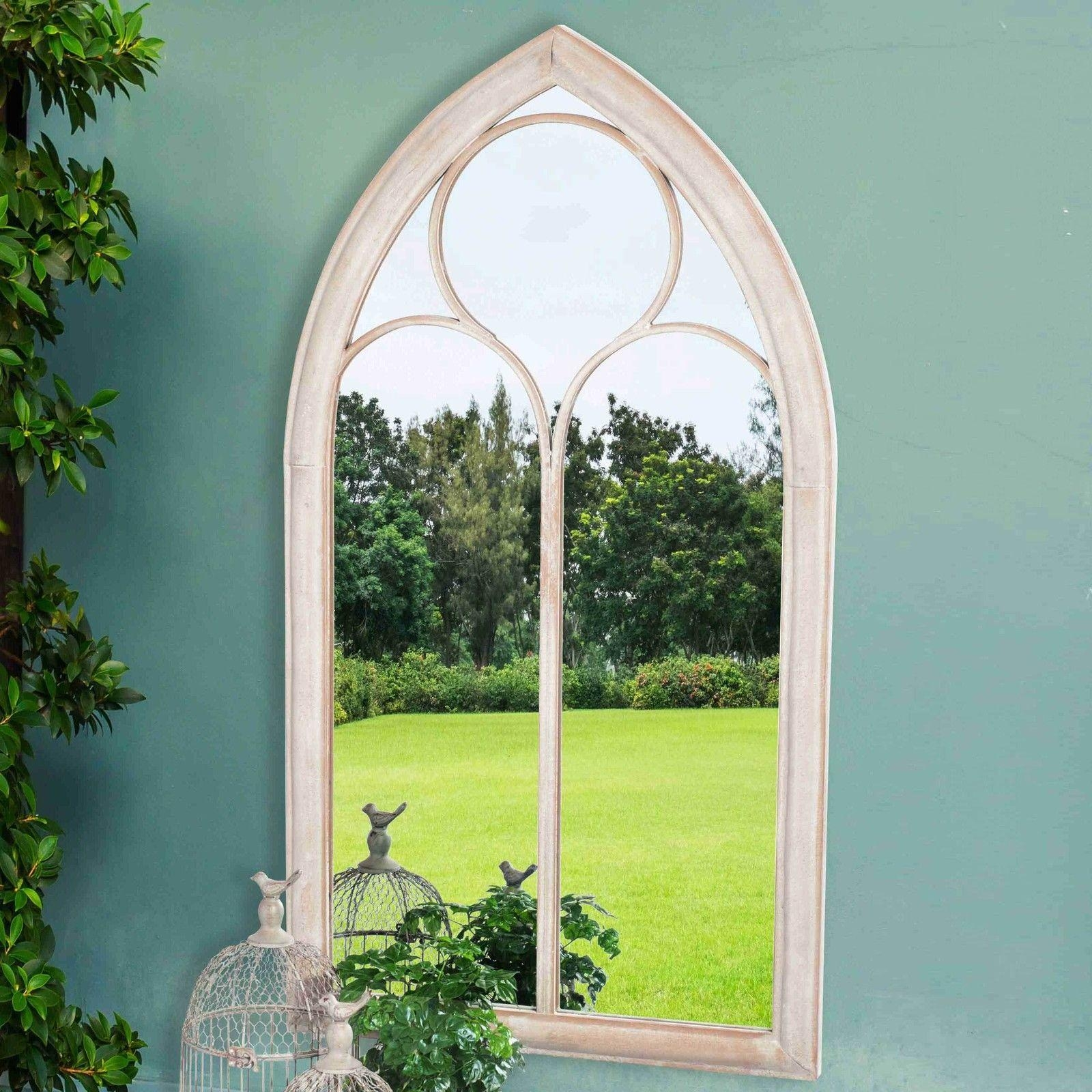 Gothic Arch Mirror Victorian Cathedral Windowpane Style Garden With Regard To Gothic Style Mirror (View 20 of 20)