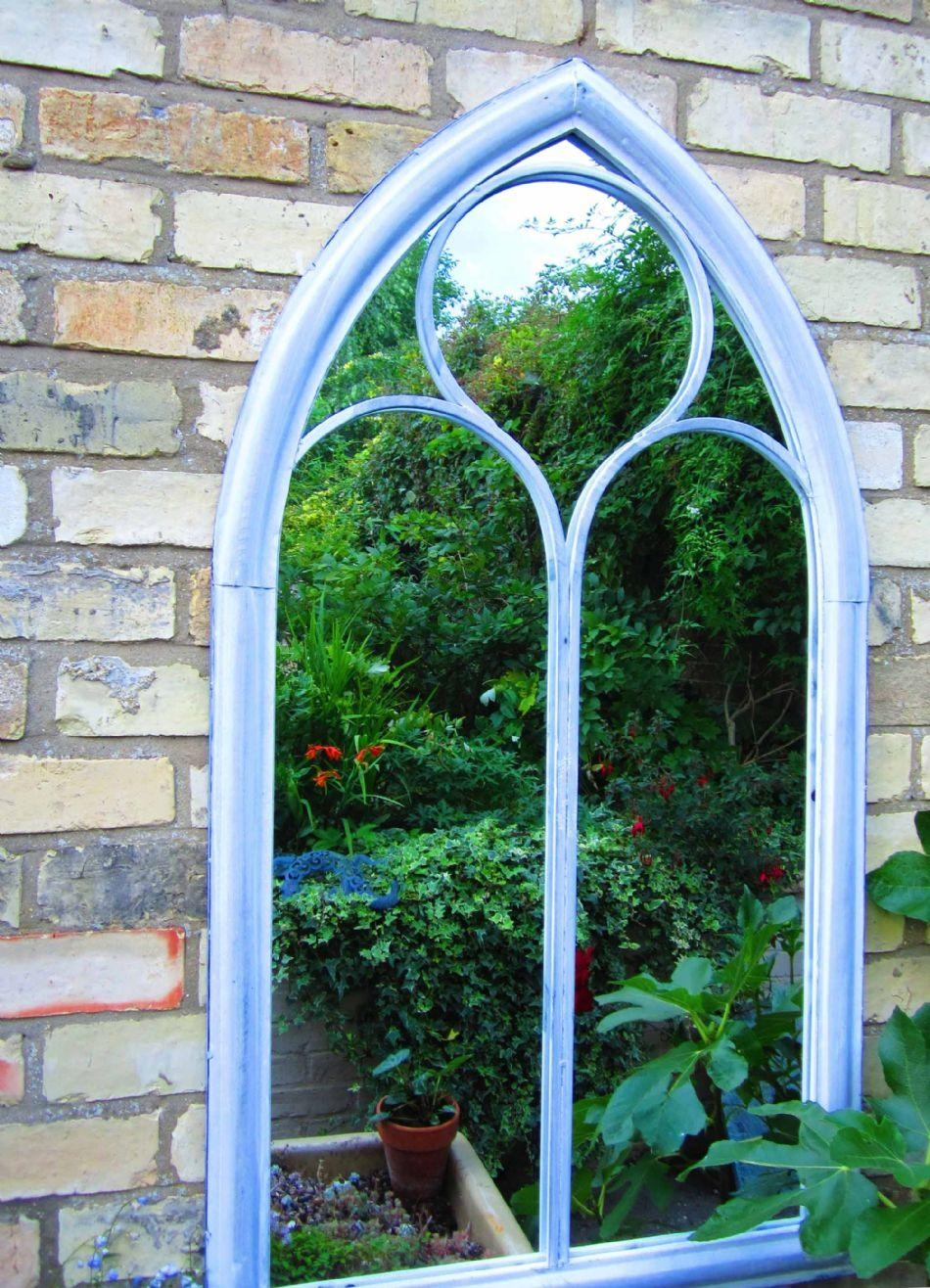 Gothic Arch Window Mirror 112Cm Tall Intended For Gothic Garden Mirrors (Image 13 of 20)