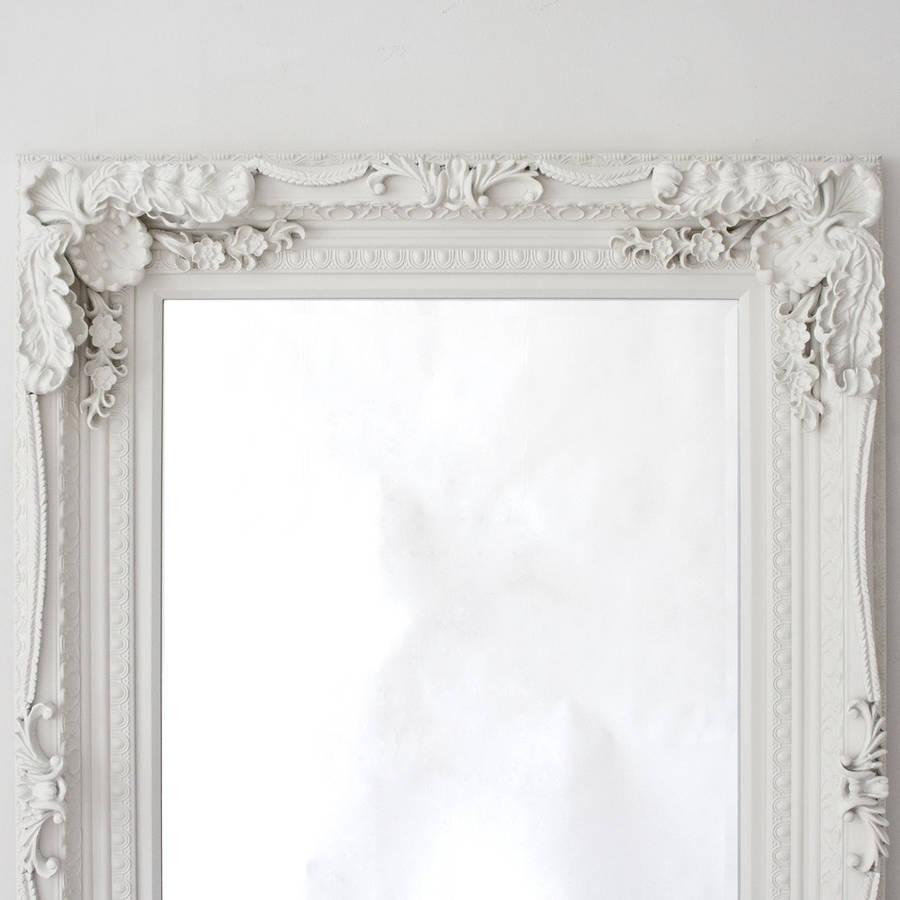 Grand Cream Full Length Dressing Mirrordecorative Mirrors With Regard To Cream Mirrors (View 17 of 20)