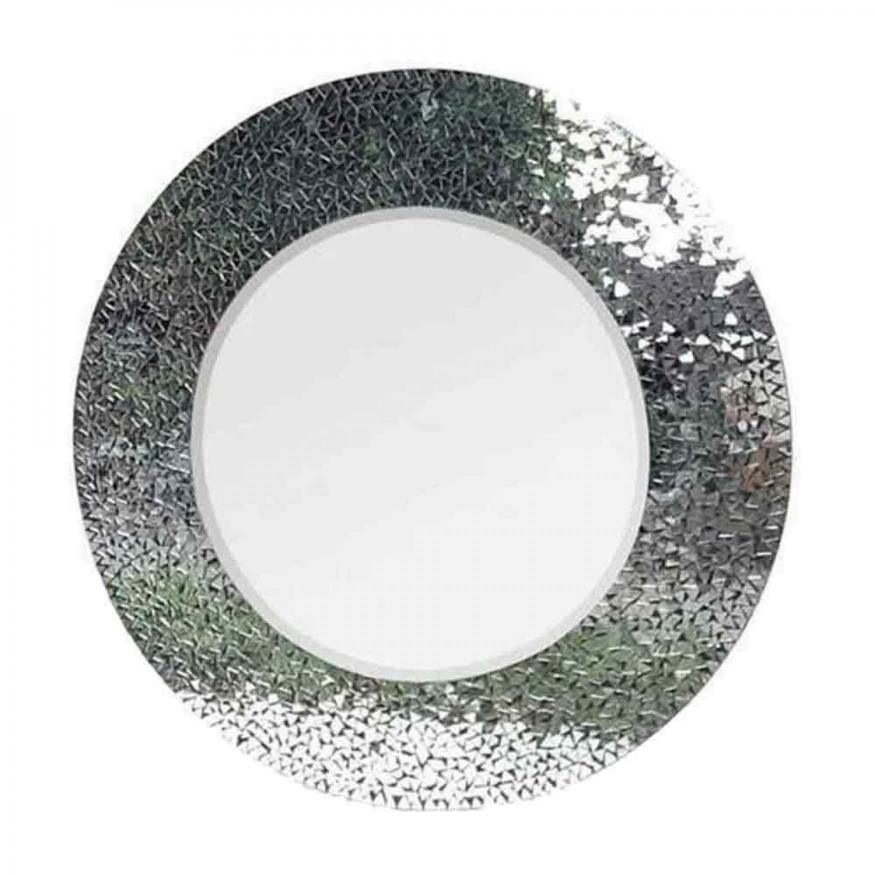 Grand Designs Round Mosaic Mirror Throughout Round Mosaic Mirrors (Image 6 of 20)