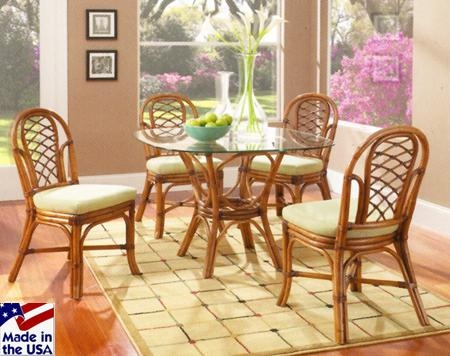 Grand Isle Rattan And Wicker Honeymoon Sets 3750Classic Rattan For Wicker And Glass Dining Tables (Image 10 of 20)