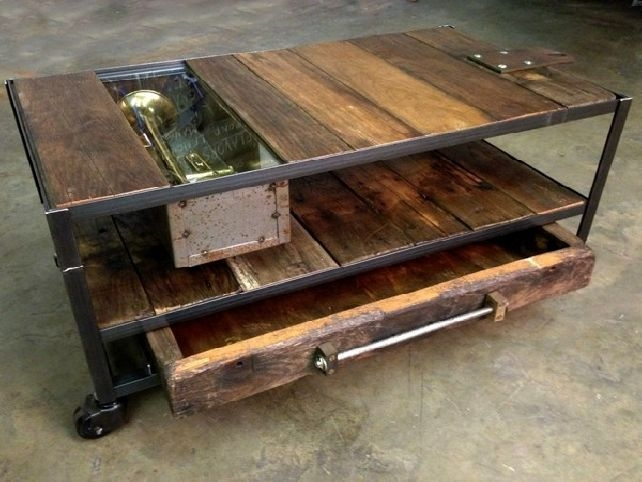 Great Best Coffee Tables With Wheels Regarding Best 25 Coffee Table With Wheels Ideas On Pinterest Industrial (View 3 of 40)