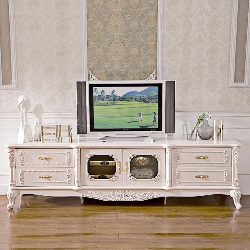 Great Best Country Style TV Cabinets Regarding Pinkishwhite Painted French Style Bedroom Sets And Country Style (View 8 of 50)