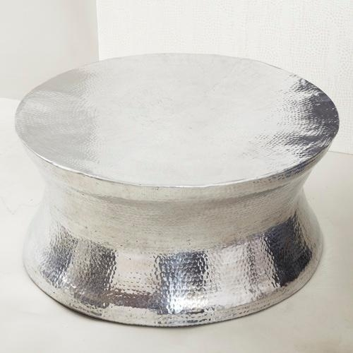 Great Best Hammered Silver Coffee Tables Regarding Adorable Hammered Metal Coffee Table Hammered Metal Side Table (Image 25 of 50)