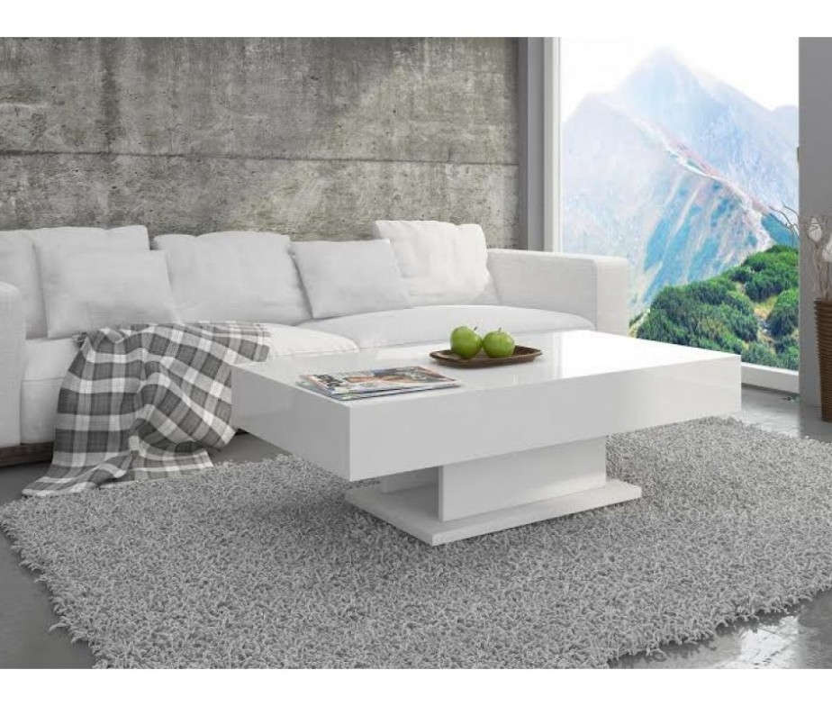 Great Best High Gloss Coffee Tables Inside Modern White Coffee Table (Image 21 of 40)