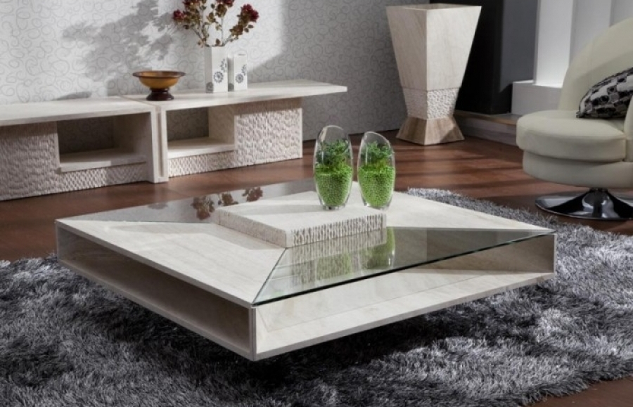 Great Best Marble Coffee Tables Within Square Marble Coffee Table Neat Coffee Table Sets On Glass Coffee (View 31 of 50)