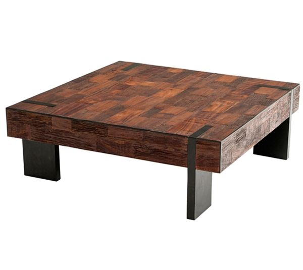 Great Best Reclaimed Wood Coffee Tables Regarding Reclaimed Wood Furniture Salvaged Distressed Old Wood (View 44 of 50)