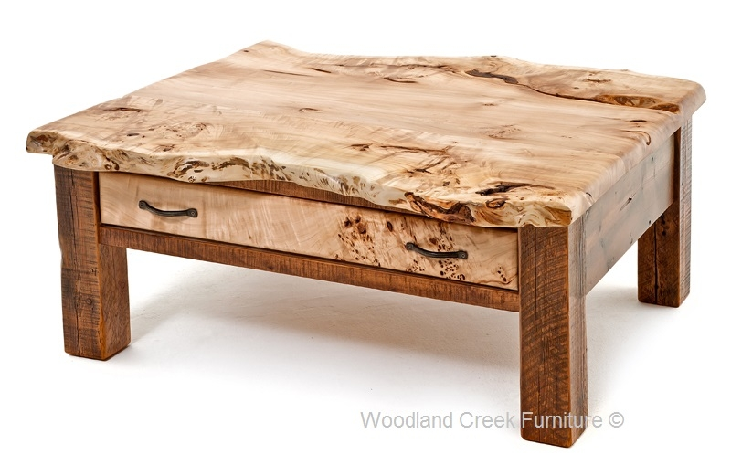 Great Best Rustic Barnwood Coffee Tables With Regard To Barn Wood Coffee Table With Burl Wood Reclaimed Cocktail (View 16 of 50)