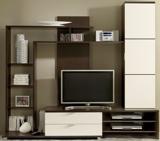 Great Best Wenge TV Cabinets For Madrid Wenge White Tv Cabinet Shelves Set (Image 17 of 50)