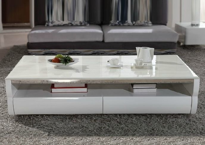 Great Best White Marble Coffee Tables Throughout Living Room Great Marble Coffee Table Modern And Estate Pertaining (Image 21 of 50)