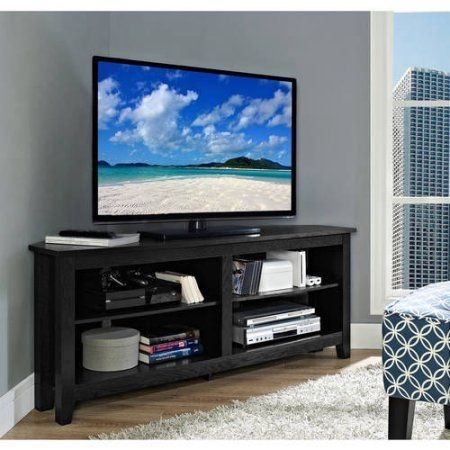 Great Brand New Black Corner TV Stands For TVs Up To 60 With Regard To Best 25 Corner Tv Console Ideas Only On Pinterest Corner Tv (Image 22 of 50)