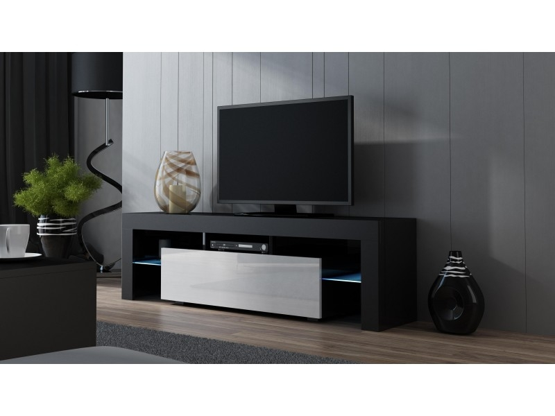 Great Brand New Black Modern TV Stands Intended For 160 Width Modern Tv Stand With Led Milano 160 Concept Muebles (Image 16 of 50)