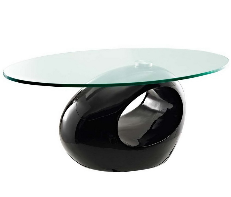 Great Brand New Black Oval Coffee Tables Inside Oval Glass Coffee Table (View 8 of 40)
