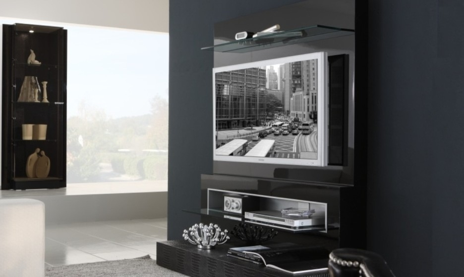 Great Brand New Black TV Cabinets With Doors With Furniture Interesting Modern Black Living Room Decoration Using (Image 26 of 50)