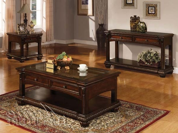 Great Brand New Cherry Wood Coffee Table Sets Pertaining To Cherry End Tables Living Room Homesullivan Brown End Table (View 26 of 50)