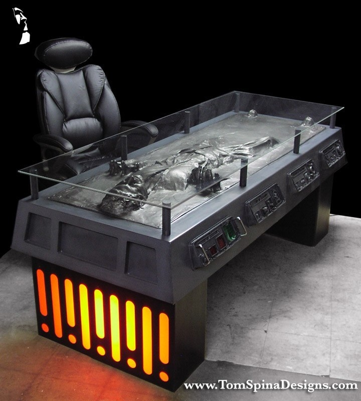 Great Brand New Desk Coffee Tables Regarding Star Wars Han Solo Carbonite Desk Custom Furniture Tom Spina (Image 17 of 50)